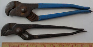 Lot Of 2 Channellock Usa Slip Joint Pliers 410 420 Both Working Fine