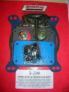 Quick Fuel 3 200 Holley 4160 Carburetor Rebuild Kit 390 600 750 Cfm 1850 3310