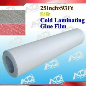 93ftx25 3mil 12 Silk Effect Paper Adhesive Glue Cold Laminating Laminator
