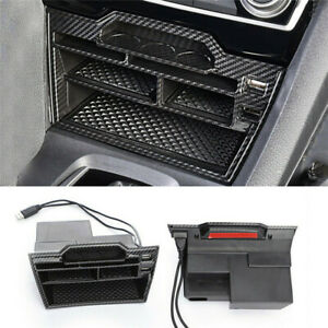 For 2016 2020 Honda Civic Car Accessories Interior Console Storage Box With Usb