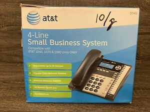 At t 4 line Small Business Phone System Compatible W 1040 1070 1080 see Desc