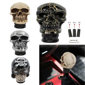 Universal Skull Head Manual Gear Transmission Stick Shift Knob Lever Shifter