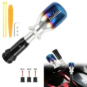 Universal Momo Titanium Burnt Blue Automatic Gear Shift Knob Shifter Lever Head