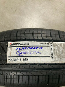 4 New 225 60 16 Bridgestone Turanza Serenity Plus Tires