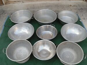 Large Commercial Heavy Duty Colanders And Various Sizes Salad food Prep Mixers