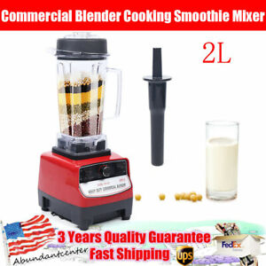1500w 2l Commercial Blender Cooking Smoothie Mixer Countertop Ice Crush Machine