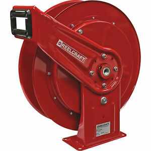 Reelcraft Retractable Air Hose Reel W 3 8in X 50ft Pvc Hose Max 300 Psi