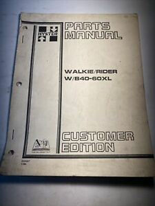 Hyster Forklift Walkie Rider W b40 60xl Parts Manual 599597 7 84