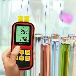Dual channel K J T E R S N Type Atc Thermocouple Thermometer Tester