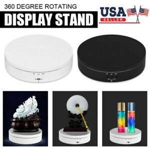 Top Battery Rotating Display Stand 360 Electric Turntable Show Holder Us