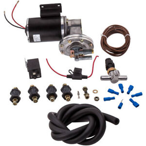 Electrical Vacuum Pump Kit Hose Relay Set For Brake Booster 12 Volt 18 To 22
