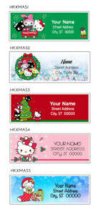 Sanrio Hello Kitty Christmas Address Labels 5 Designs To Choose From