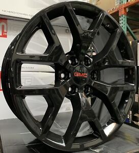 26 Chevy Silverado Tahoe Black Wheels Rims Tires Gmc Sierra Yukon Escalade