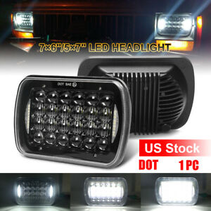 5x7 7x6 Cree Led Headlight Drl Dot For Jeep Wrangler Yj Cherokee Xj 1986 1995
