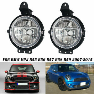 Pair Fog Lights For Mini R55 R56 R57 R58 Cooper 2007 2015 Front Left And Right