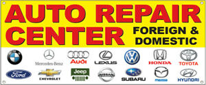 Auto Repair Center Foreign Domestic Vinyl Banner Sign Yb Multi Sizes