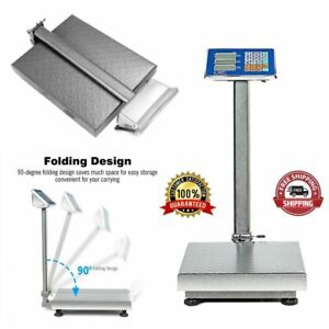 Digital Postal Platform Scale 660lb Weight Shipping Foldable Supermarkets Led