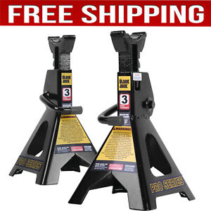 6000 Lb 3 Ton Jack Stands Pair For Garage Car Truck Lifting Tire Change Lift New