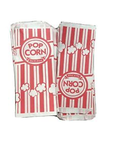 Carnival King Paper Popcorn Bags 1oz Red White 80 Pack