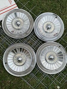 1957 57 Ford Fairlane Hubcap Rim Wheel Cover Hub Cap 14 Oem Used Set 4