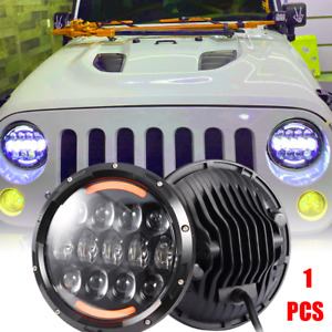 Dot 7 Round Led Headlight Drl Turn Signal For Jeep Wrangler Jk Lj Tj 1997 2017