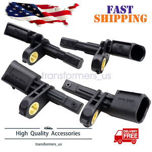 4 Abs Wheel Speed Sensor Front Rear Left Right Fits For Audi Volkswagen Set