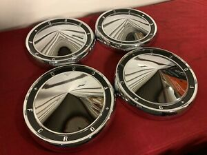 Nos 1960 Ford Fairlane Galaxie Starliner Hubcaps 60 Fomoco