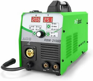 Used Power Mig Welder 210mp 2100d Gas gasless Flux Core Wire Automatic Feed Gift