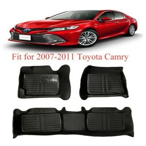 Floor Mats Liner Molded Black Fit For Toyota Camry 2007 2011