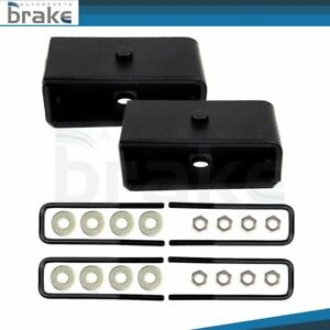 1 Rear Blocks Leveling Lift Kit Fits Chevy Silverado Gmc Sierra 1500 1999 2020
