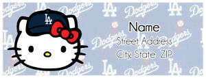 Sanrio Hello Kitty La Dodgers Personalized Address Labels
