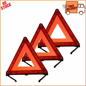 Warning Dot Approved Kit Triangle Emergency Reflective Sign Safety Roadside Road