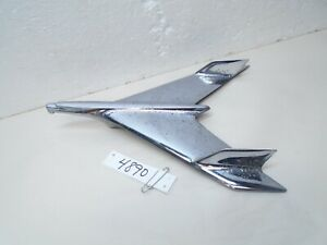 1956 Chevrolet Chrome Hood Ornament Bel Air Nomad Emblem Trim 210 56 Jet Eagle