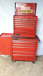 Snap On Rolling Tool Chest Stack 4 Piece Red With Lined Drawers