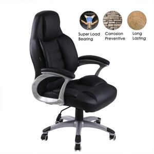 Heavy Duty High Back Tall Desk Executive Ergonomic Leather Brown Chair