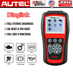 Autel Diaglink As Md802 Obd2 Car Diagnostic Scanner Abs Srs Epb Oil Reset Tool