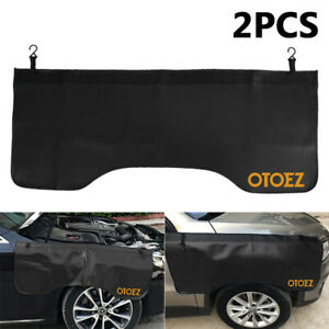2pack Automotive Pu Leather Soft Fender Cover W magnet Hooks 3 Types 4 Color
