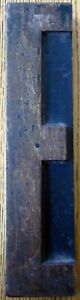 Antique 12 1 2 Wood Letter E Printers Block For Letterpress