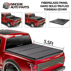 Hard Solid Tri fold Tonneau Cover Fits 2019 2020 Ram 1500 Pickup 5 5ft Bed