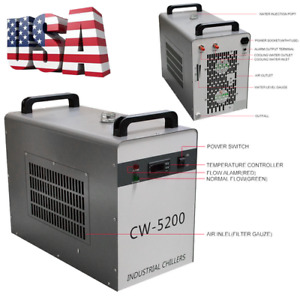 Great Industrial Water Chiller Cw 5200dg 6l Tank For Co2 Laser Tube Machine