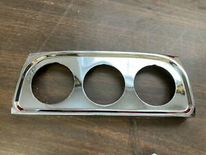 Ford Chevy Dodge Ratrod Gasser Solid Heavy Chrome Cast 3 Hole Gauge Panel 1020