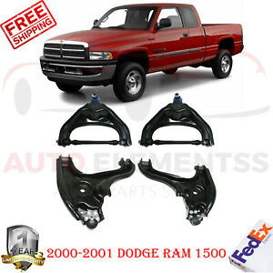 Front Upper Lower Control Arm Kit For 2000 2001 Dodge Ram 1500 Rwd
