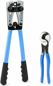 Battery Cable Lug Crimping Tool From Awg 8 1 0 With Cable Cutter