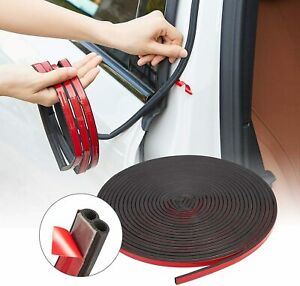 32ft Universal Car Window Door Rubber Seal Strip Hollow B Shape Noise Insulation