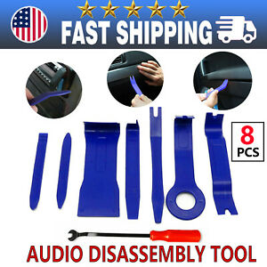 Car Trim Removal Tool Kit Auto Pry Door Panel Dash Radio Fastener Tools Set 8set