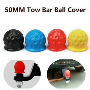 Universal 50mm Tow Bar Ball Rubber Cover Cap Hitch Trailer Car Towball Protect
