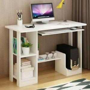 Wood Computer Desk Pc Laptop Table Study Workstation Home Office Furniture A