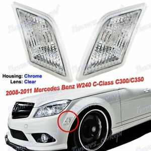 Clear Bumper Side Marker Lights For 2008 2011 Mercedes Benz W204 C class Sedan