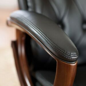 Luxury Leather Executive Office Chair Button Tufted sale free Shipping