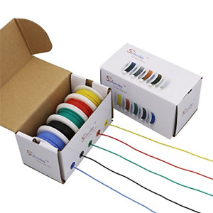 Striveday 30 Awg Flexible Silicone Wire Electric Wire 30 Gauge Coper Hook Up Diy
